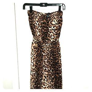 Forever 21 leopard Jumpsuit